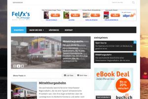 Felis's Homepage auf WordPress