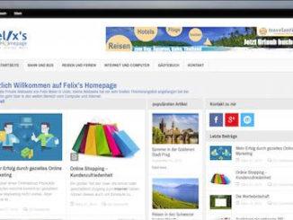 Webseite Felix Meier