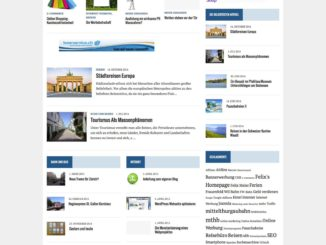 Felix's Homepage, Wordpress Startseite