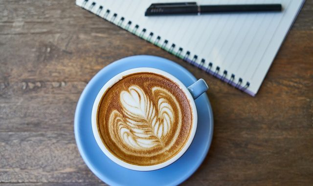 Coffee Notebook The Work Pen Cup schreiben Beitag